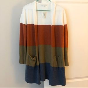 Madewell's best selling FALL color block cardigan
